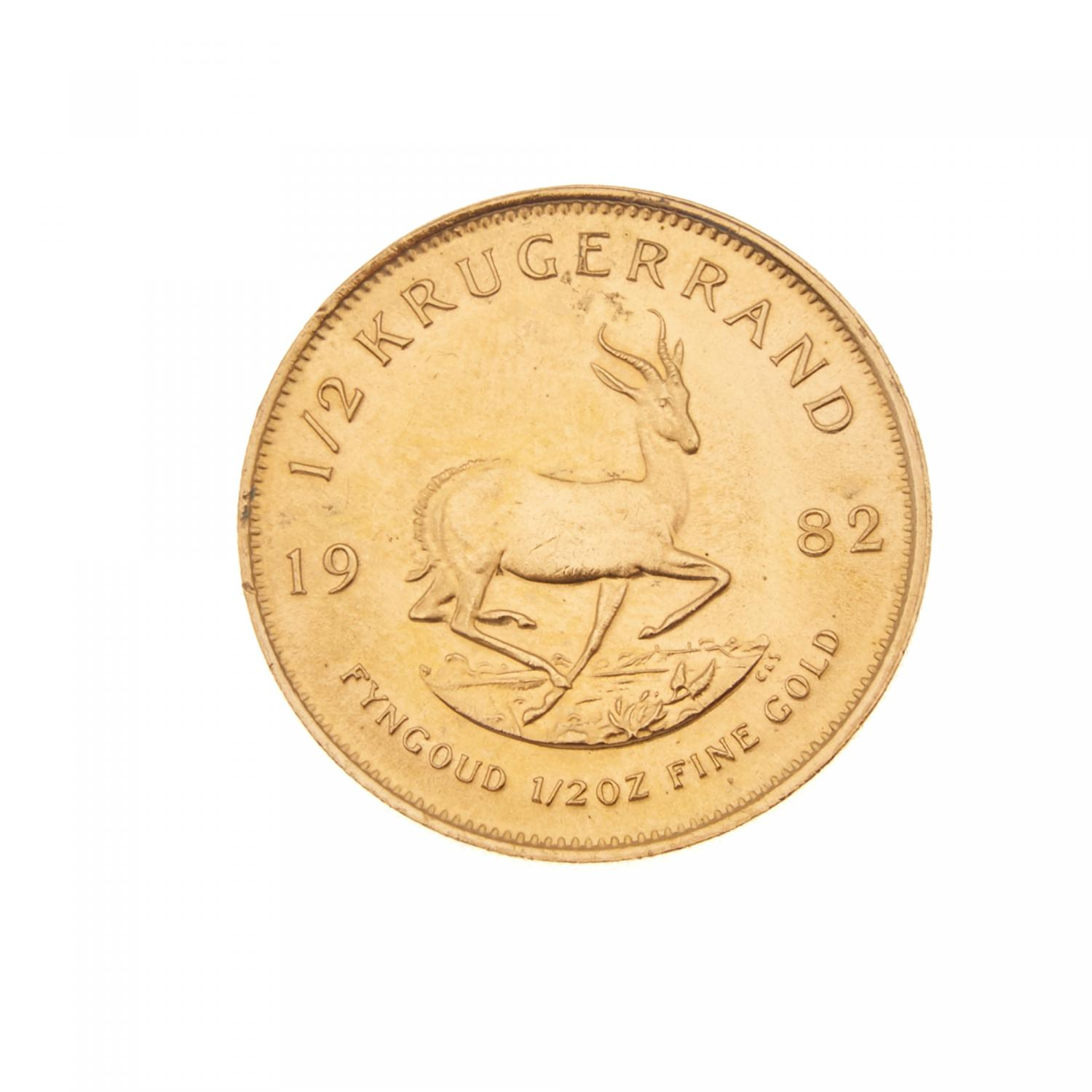 Lot 70 Of 240 A 1 2 Krugerrand 1982 Oz Fine Gold