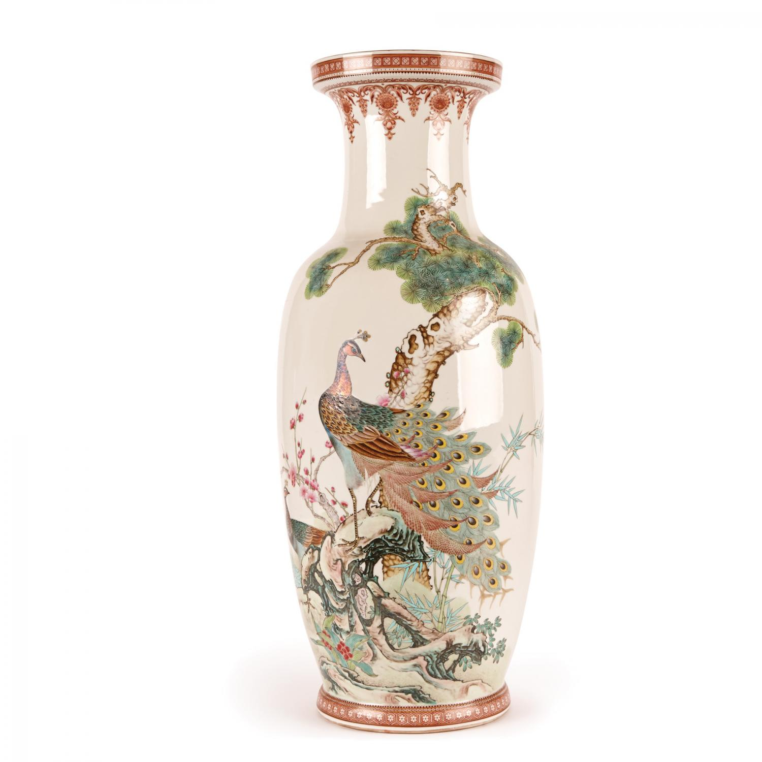 Lot 377 Of 270 A Large Chinese Famille Rose Vase