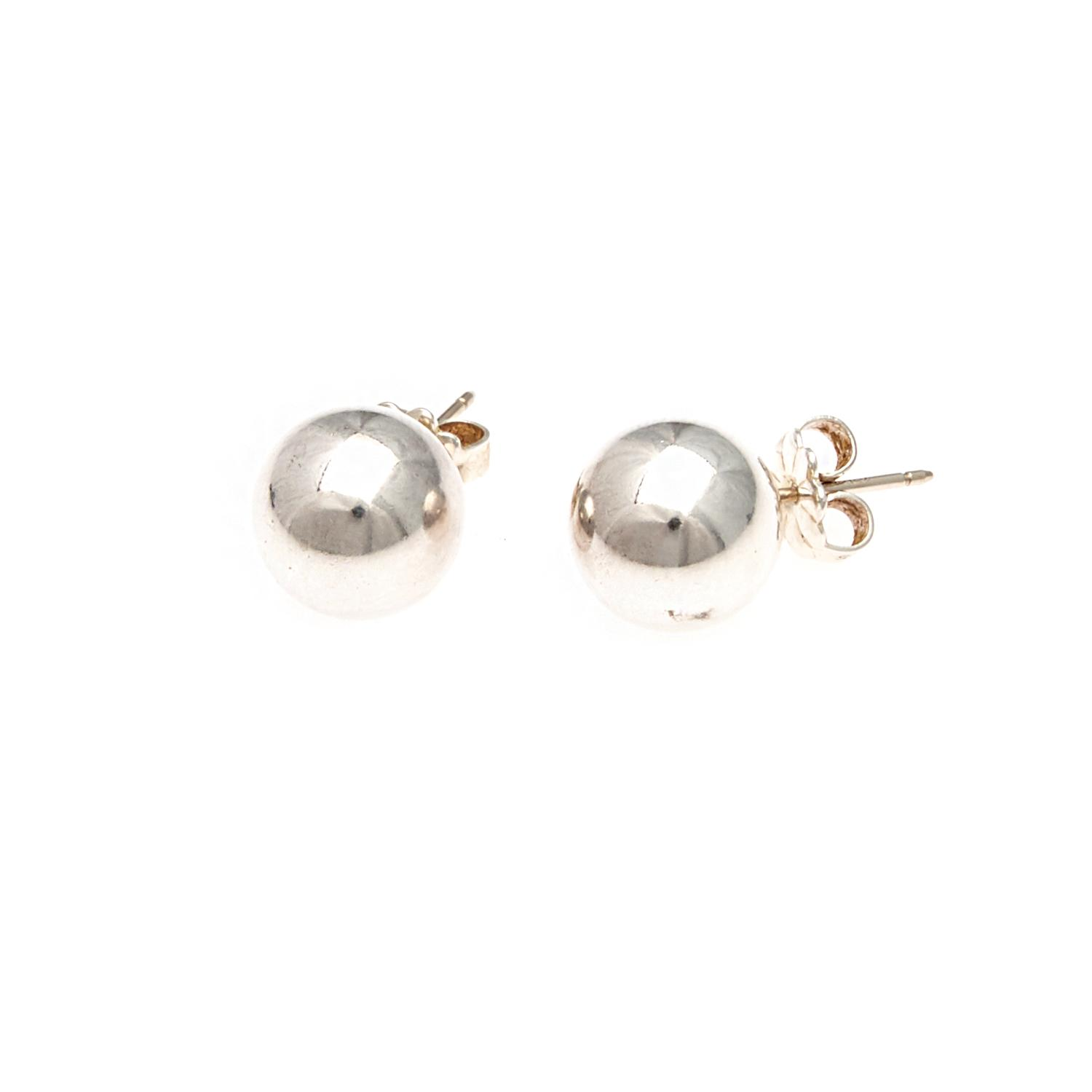 8060df06b Lot 587 of 165: A Pair of Sterling Silver Tiffany & Co Bead Earrings