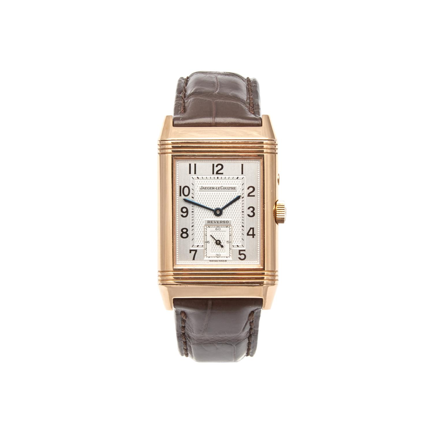 60cb23185695 Lot 620 of 170  A Rose Gold Jaeger-LeCoultre Reverso Duoface Wristwatch