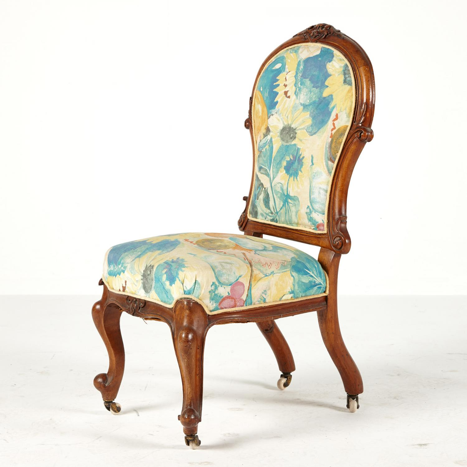 Lot 28 Of 236: A Victorian Slipper Chair