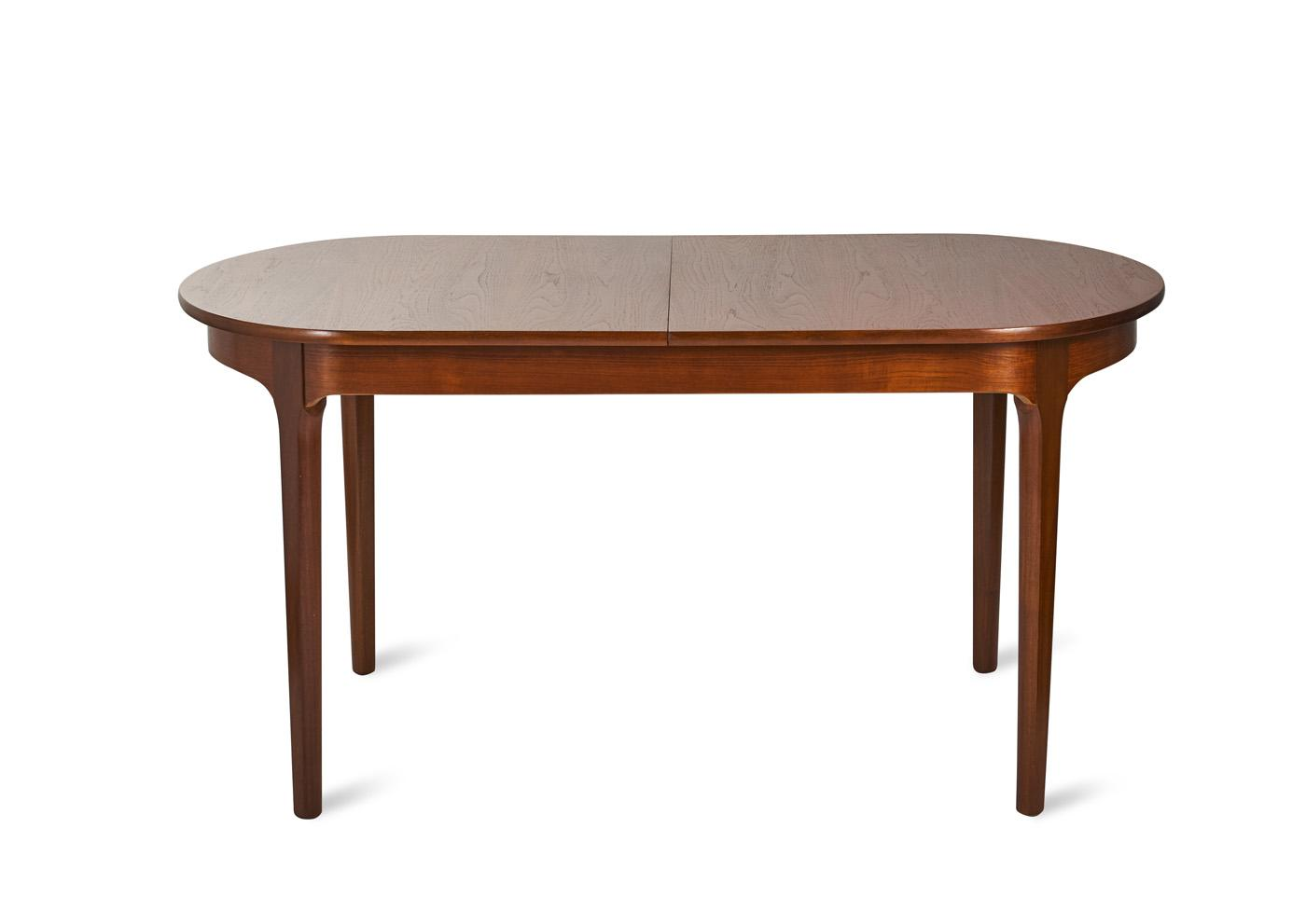 A Nathan Furniture Extendable Teak Oval Dining Table Price