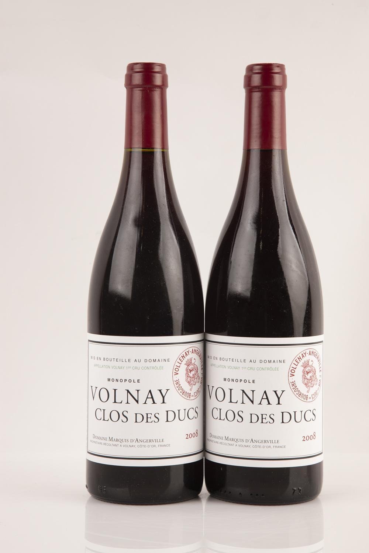 2 2008 Domaine Marquis D Angerville Volnay 1er Cru Clos Des Ducs Monopole Cote De Beaune Price Estimate 160 220