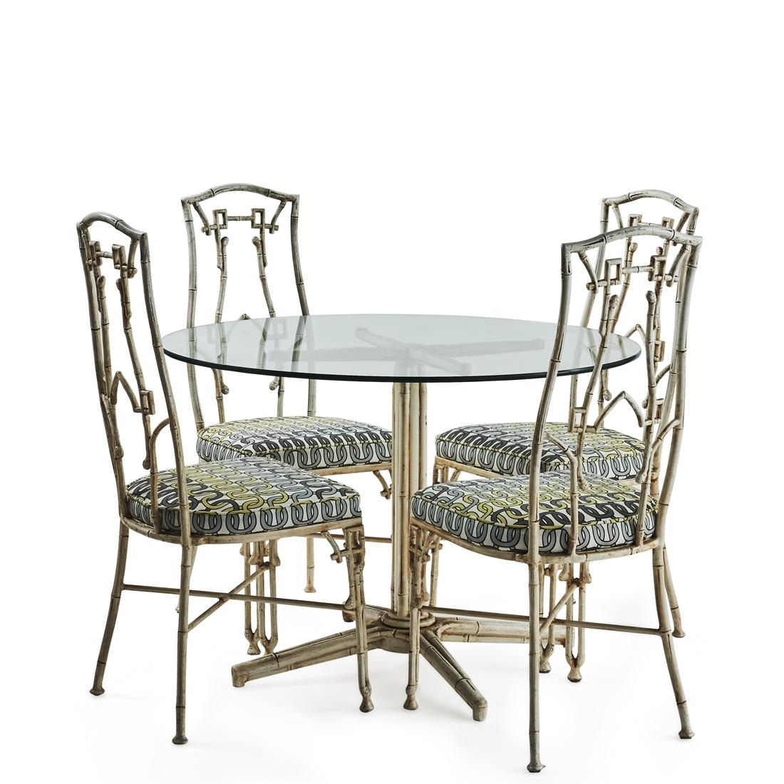 A Hollywood Regency Dining Table And Four Chairs Price Estimate 800 1500